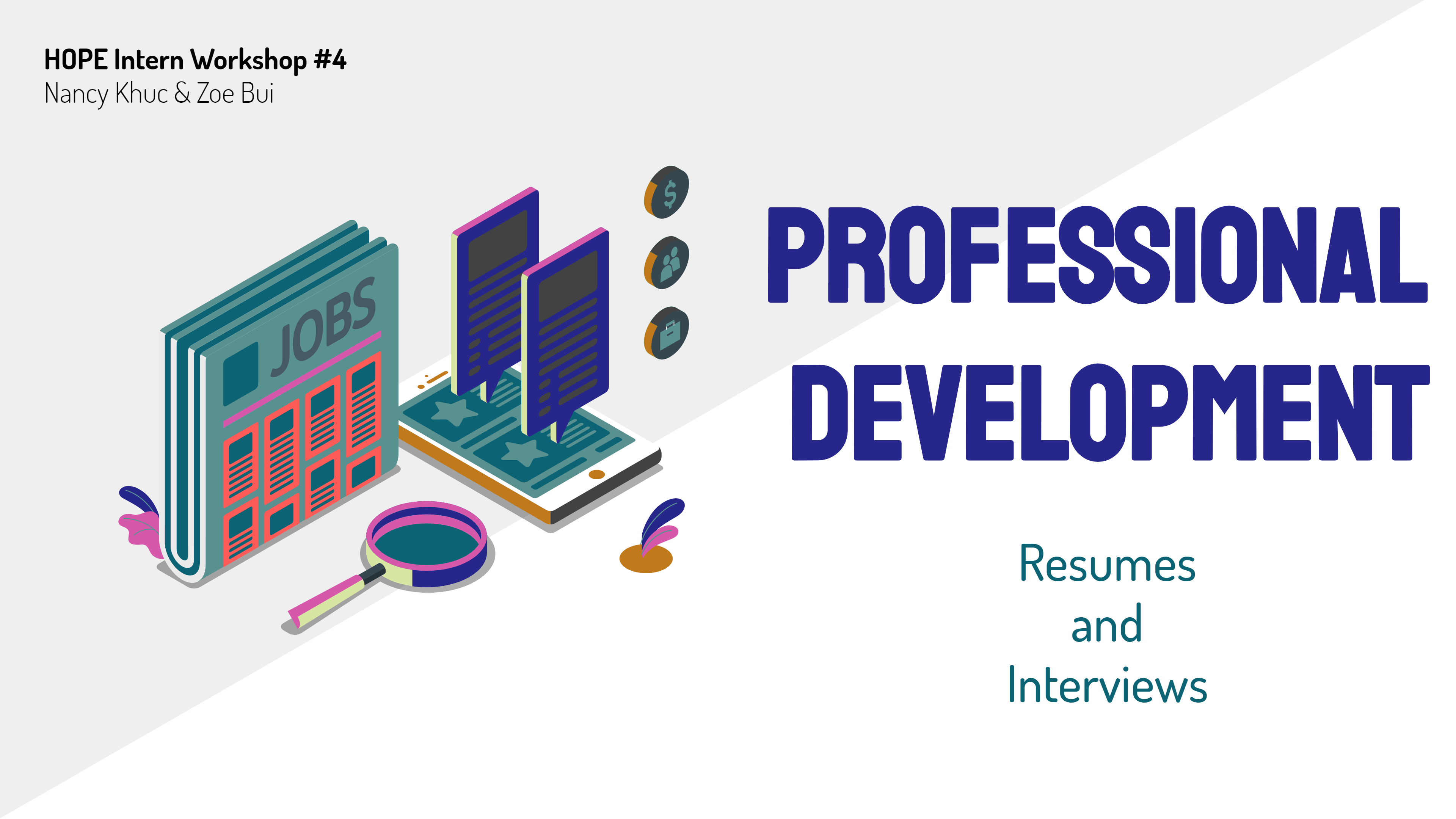 Want to learn how to build a resume or prepare for an interview? Explore different topics and access our previous workshop slides here!